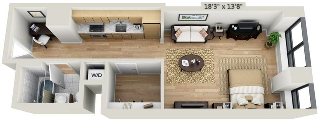 Studio, Financial District Rental in NYC for $3,429 - Photo 1