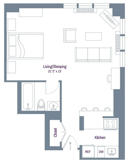 Studio, Rose Hill Rental in NYC for $3,430 - Photo 1