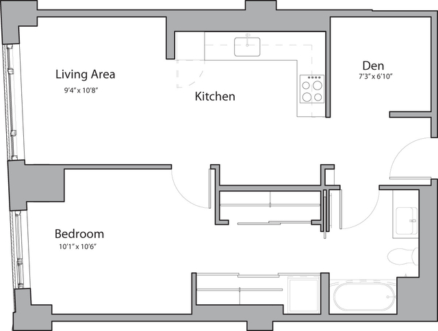 1 Bedroom, Shawmut Rental in Boston, MA for $3,315 - Photo 1