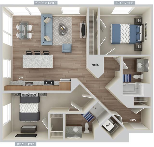 2 Bedrooms, Natick Rental in Boston, MA for $4,430 - Photo 1