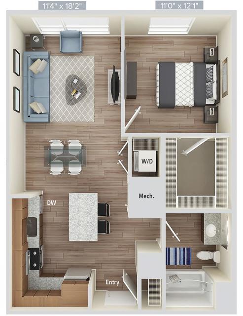1 Bedroom, Natick Rental in Boston, MA for $3,105 - Photo 1