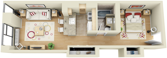 Studio, Financial District Rental in NYC for $3,220 - Photo 1