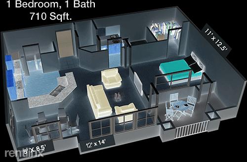 1 Bedroom, Saddlebrook Apartments Rental in Denton-Lewisville, TX for $1,199 - Photo 1