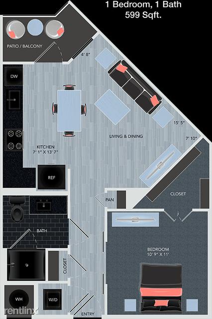 1 Bedroom, Energy Corridor Rental in Houston for $1,000 - Photo 1