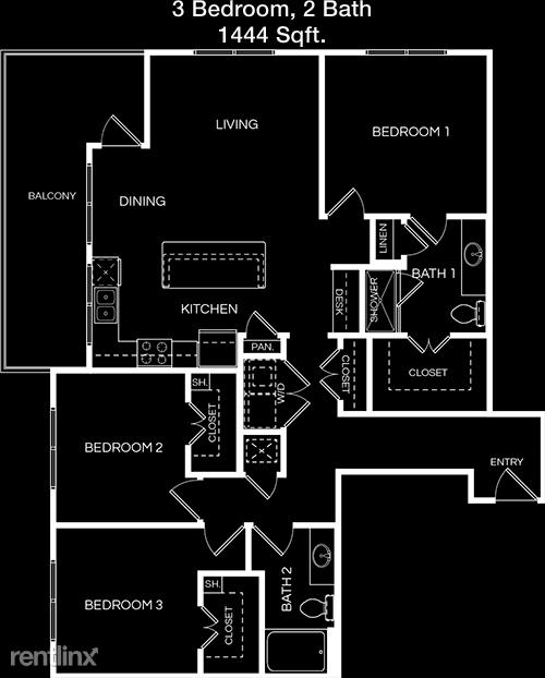 3 Bedrooms, Washington Avenue - Memorial Park Rental in Houston for $2,621 - Photo 1