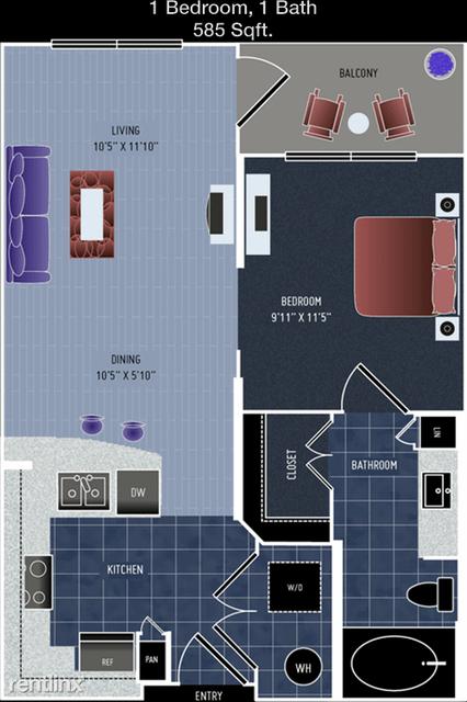 1 Bedroom, Washington Avenue - Memorial Park Rental in Houston for $1,112 - Photo 1