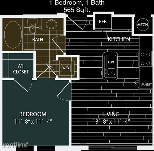 1 Bedroom, Washington Avenue - Memorial Park Rental in Houston for $1,309 - Photo 1