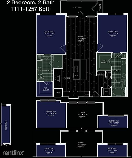 2 Bedrooms, Grogan's Mill Rental in Houston for $1,664 - Photo 1