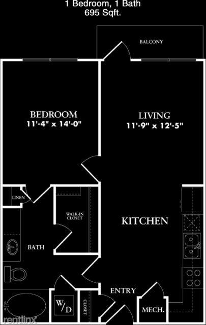 1 Bedroom, Cypress Rental in Houston for $1,006 - Photo 1