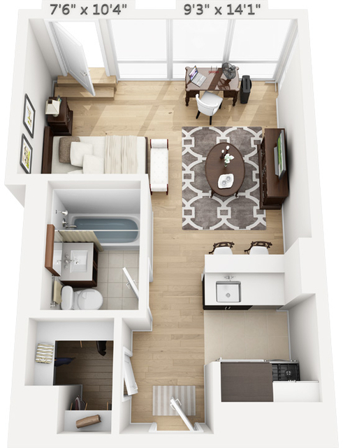 Studio, Manhattan Valley Rental in NYC for $3,370 - Photo 1
