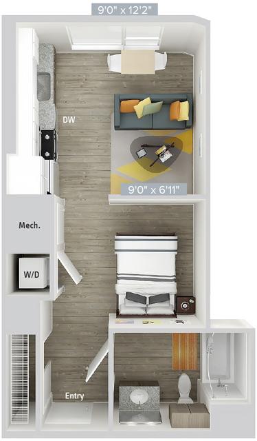 Studio, Natick Rental in Boston, MA for $3,145 - Photo 1