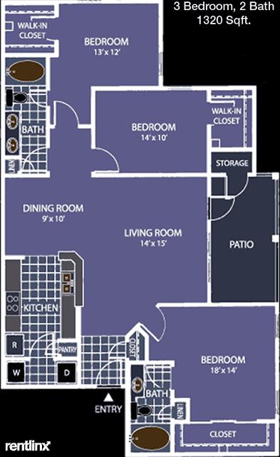 3 Bedrooms, Village at Stonebridge Ranch Rental in Dallas for $2,075 - Photo 1