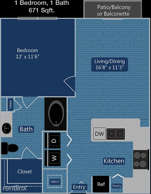 1 Bedroom, Southwest Dallas Rental in Dallas for $1,180 - Photo 1