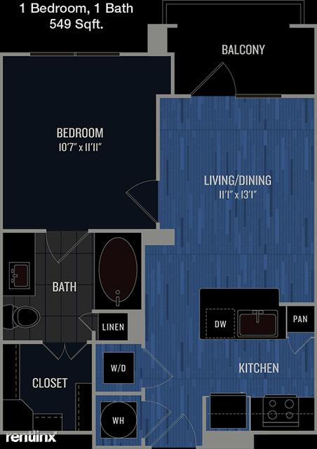 1 Bedroom, Prestonwood 19-20-21 Rental in Dallas for $1,546 - Photo 1