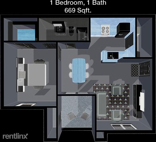 1 Bedroom, Stone Mist Rental in Houston for $1,140 - Photo 1