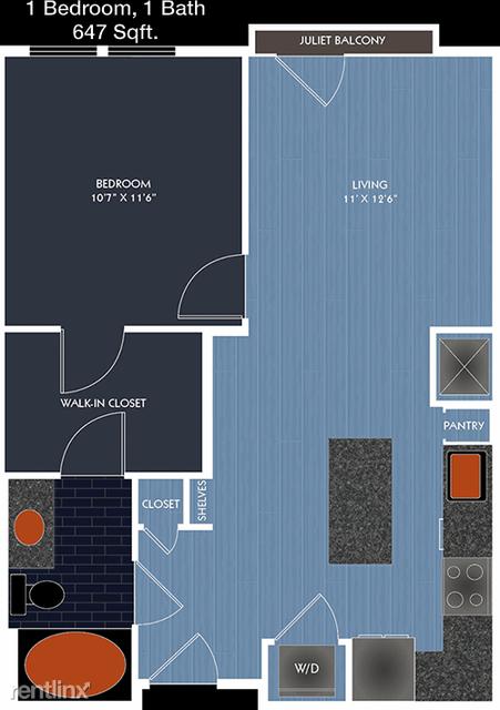 1 Bedroom, Spring Branch West Rental in Houston for $1,075 - Photo 1