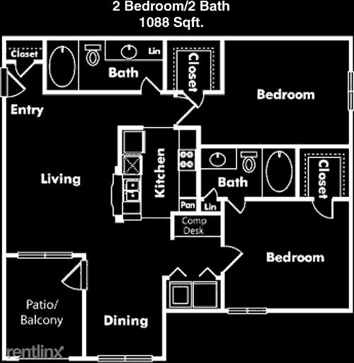 2 Bedrooms, Villas at West Oaks Rental in Houston for $1,255 - Photo 1