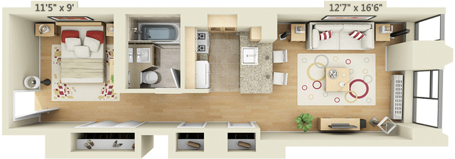 Studio, Financial District Rental in NYC for $3,396 - Photo 1