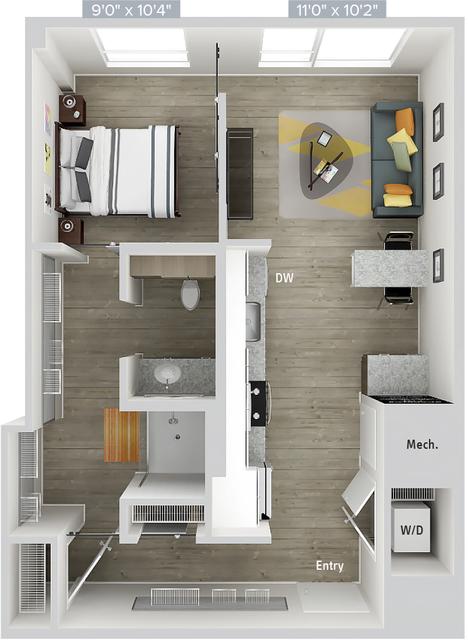 1 Bedroom, Natick Rental in Boston, MA for $3,240 - Photo 1