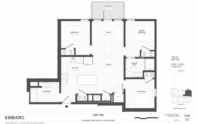 3 Bedrooms, Central Maverick Square - Paris Street Rental in Boston, MA for $4,800 - Photo 1