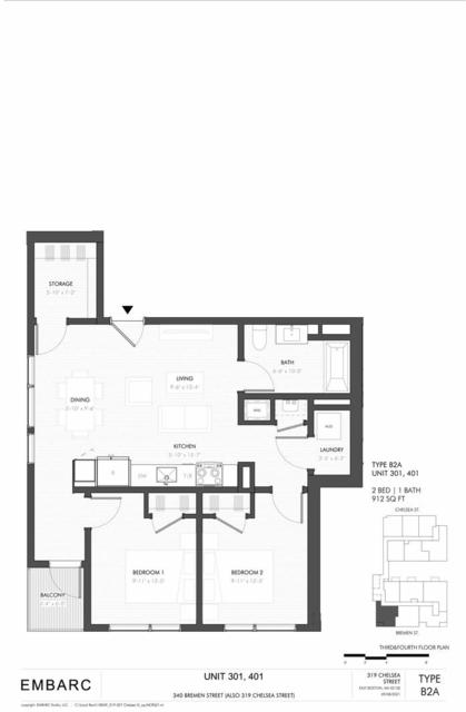 2 Bedrooms, Central Maverick Square - Paris Street Rental in Boston, MA for $3,900 - Photo 1