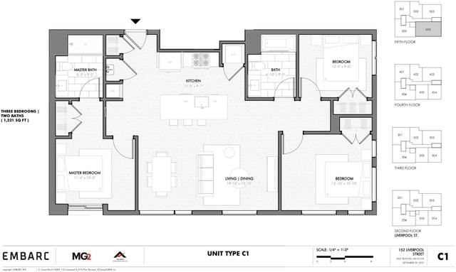 3 Bedrooms, Central Maverick Square - Paris Street Rental in Boston, MA for $3,525 - Photo 1