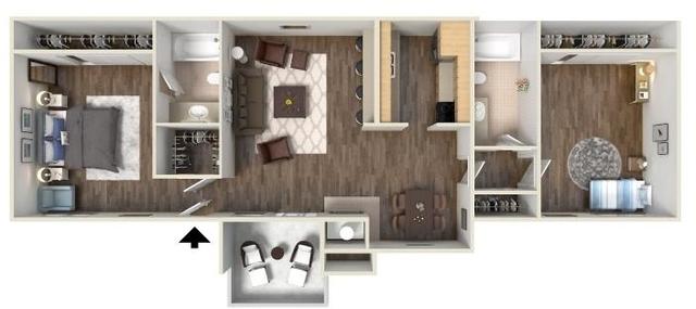 2 Bedrooms, North Central Dallas Rental in Dallas for $1,000 - Photo 1