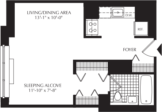 Studio, Upper West Side Rental in NYC for $3,370 - Photo 2
