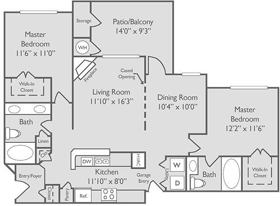 2 Bedrooms, Amli at Barrett Lakes Apartments Rental in Atlanta, GA for $1,180 - Photo 1