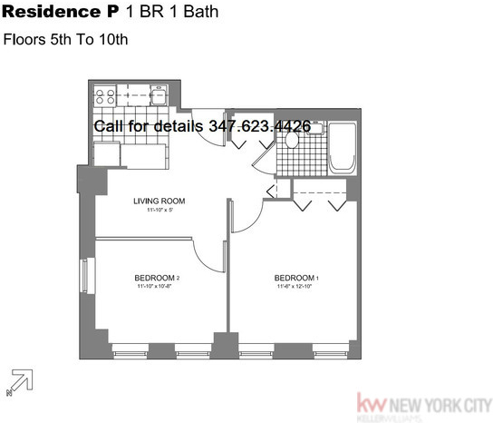2 Bedrooms, Chelsea Rental in NYC for $3,495 - Photo 2