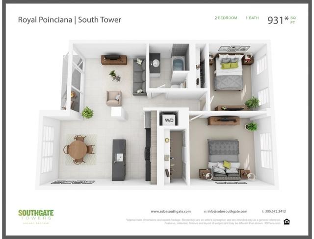 2 Bedrooms, Fleetwood Rental in Miami, FL for $2,594 - Photo 2
