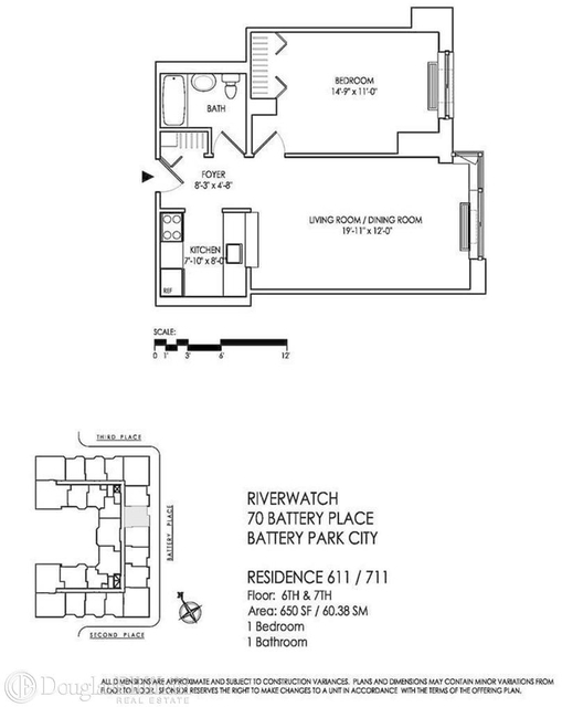 1 Bedroom At Battery Pl Posted By Marcus Morris For 3249