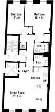 2 Bedrooms, Financial District Rental in NYC for $6,138 - Photo 2